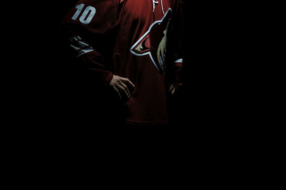 LOS ANGELES, CA - JUNE 25:  Mark Visentin, drafted 27th overall by the Phoenix Coyotes, poses for his portrait during the 2010 NHL Entry Draft at Staples Center on June 25, 2010 in Los Angeles, California.  (Photo by Harry How/Getty Images)