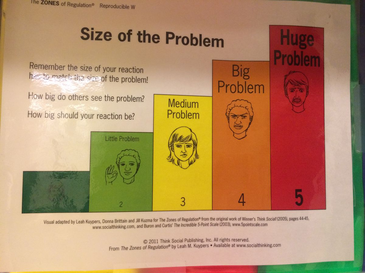 A poster on how to cope with setbacks hangs in the Quad Preparatory School, a New York institution designed for bright kids with disabilities.