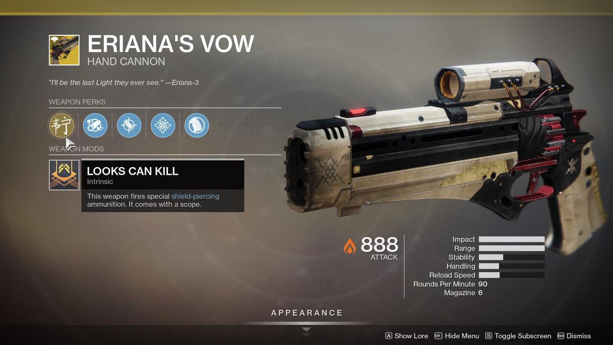 Eriana's Vow Destiny 2