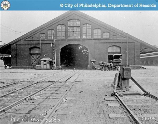 A photo of the trainshed from 1914.