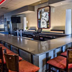 The bar at Il Gaillo.