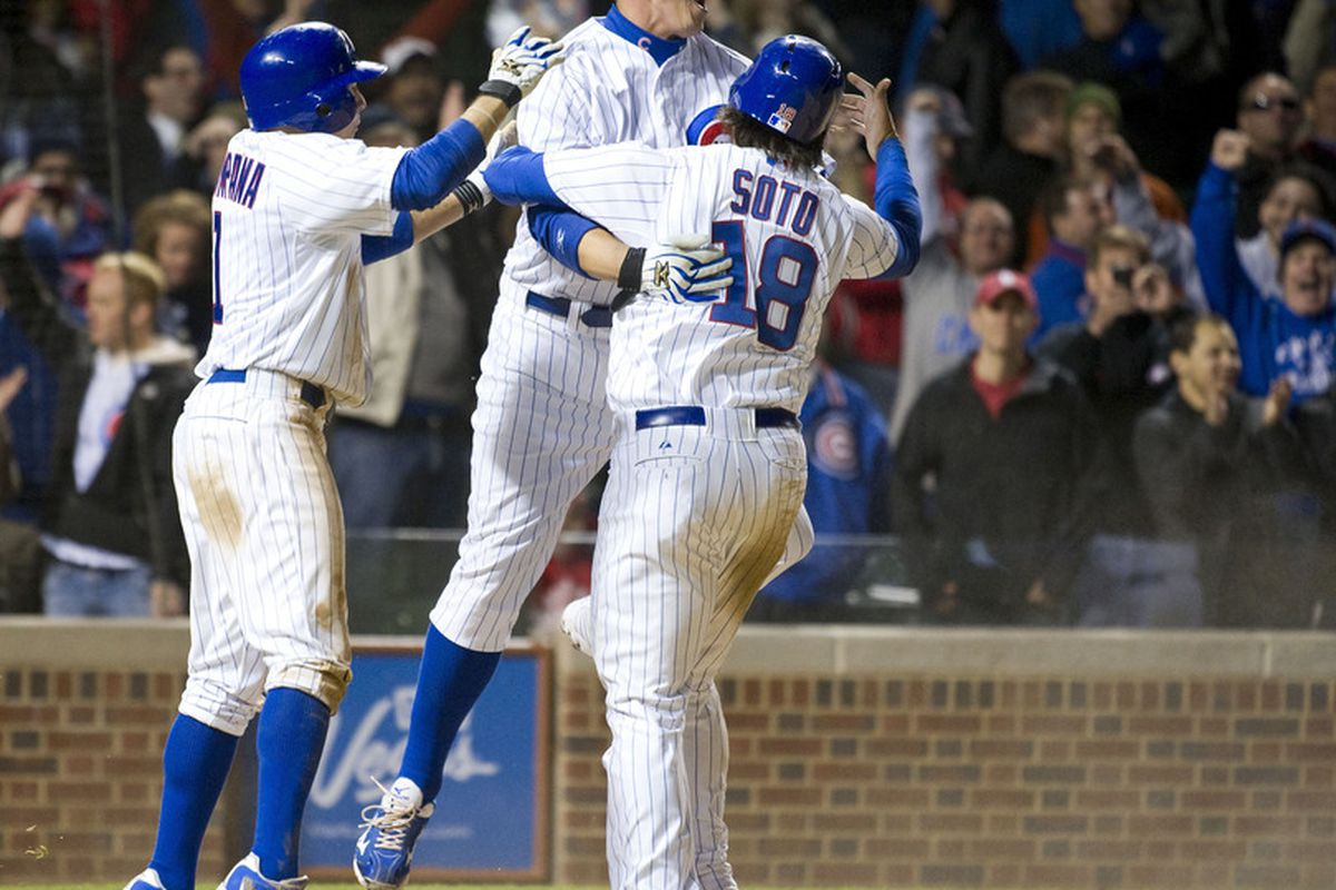 Soto is gone ... how many more Cubs will go today?  (Photo by Brian Kersey/Getty Images)