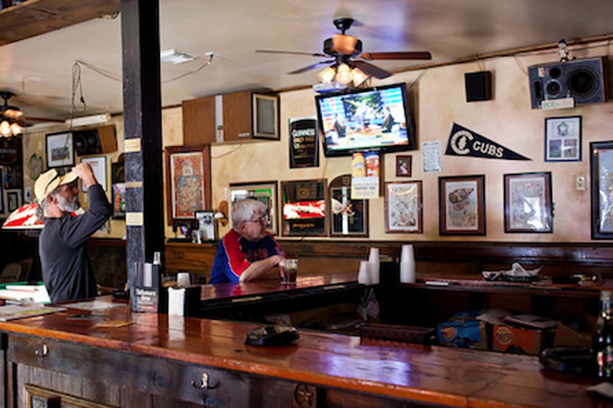 Inside Finn McCool's Irish Pub.
