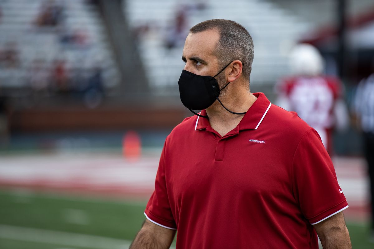 PULLMAN, WA - SEPTEMBER 11: Washington State head coach Nick Rolovich