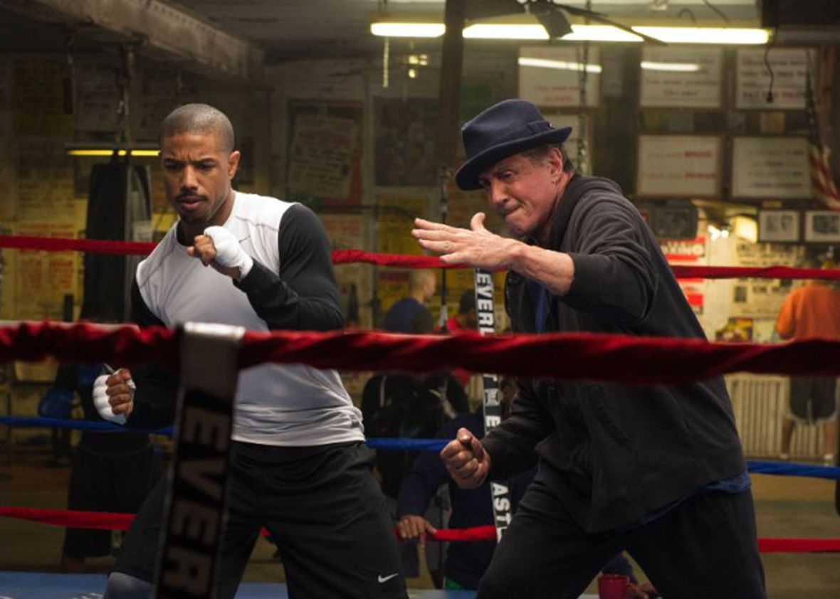 Donnie and Rocky work out.