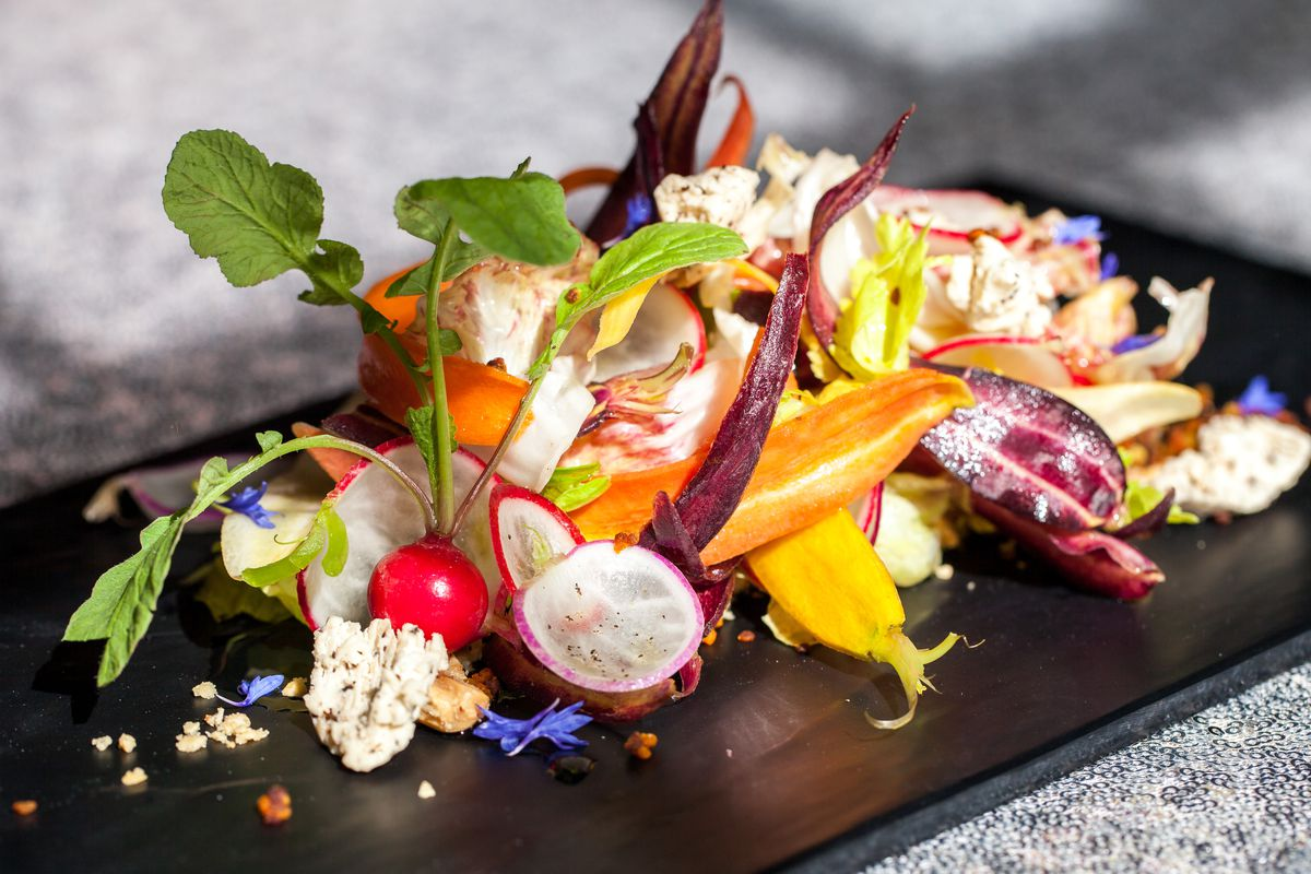The Extraction Menu's roots salad.