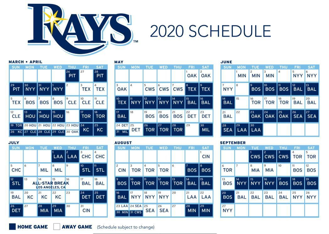 Tampa Rays Schedule 2020 Rays pull 2020 schedule from the X Files   DRaysBay