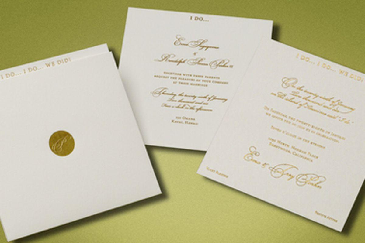 South Park creator Trey Parker's wedding invitation by Marc Friedland.