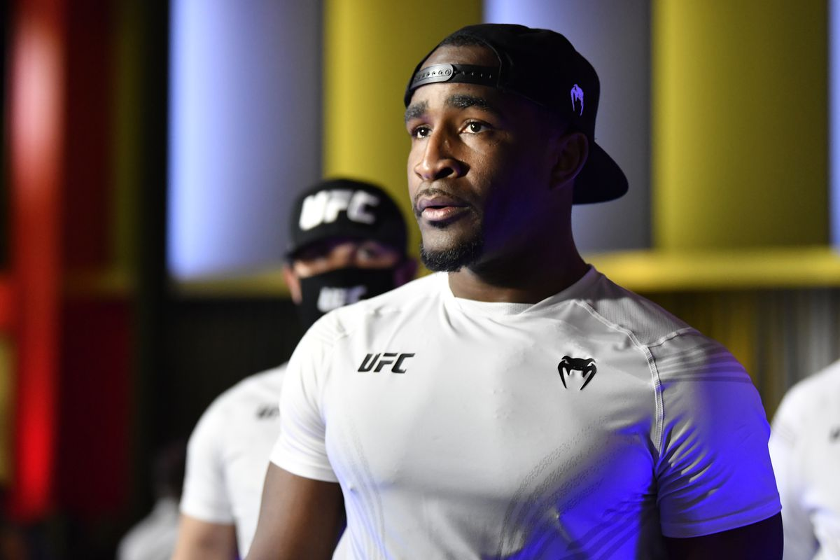 Geoff Neal during his walkout to face Neil Magny at the UFC APEX.