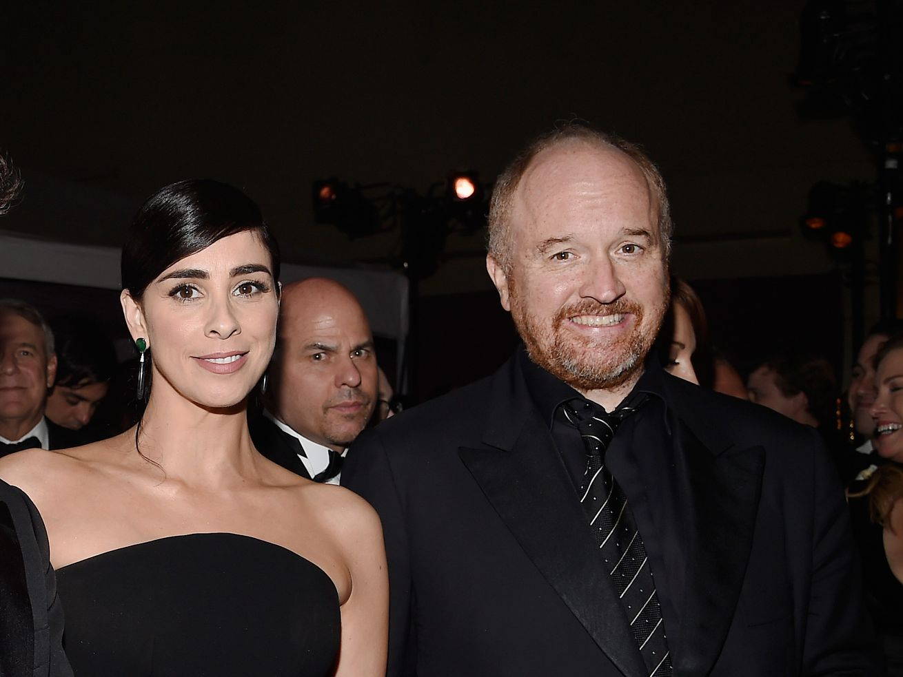 Sarah Silverman and Louis C.K. at the 88th Annual Academy Awards Governors Ball in 2016.