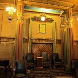 The Egyptian lodge room. (Lee Benson/Deseret News)