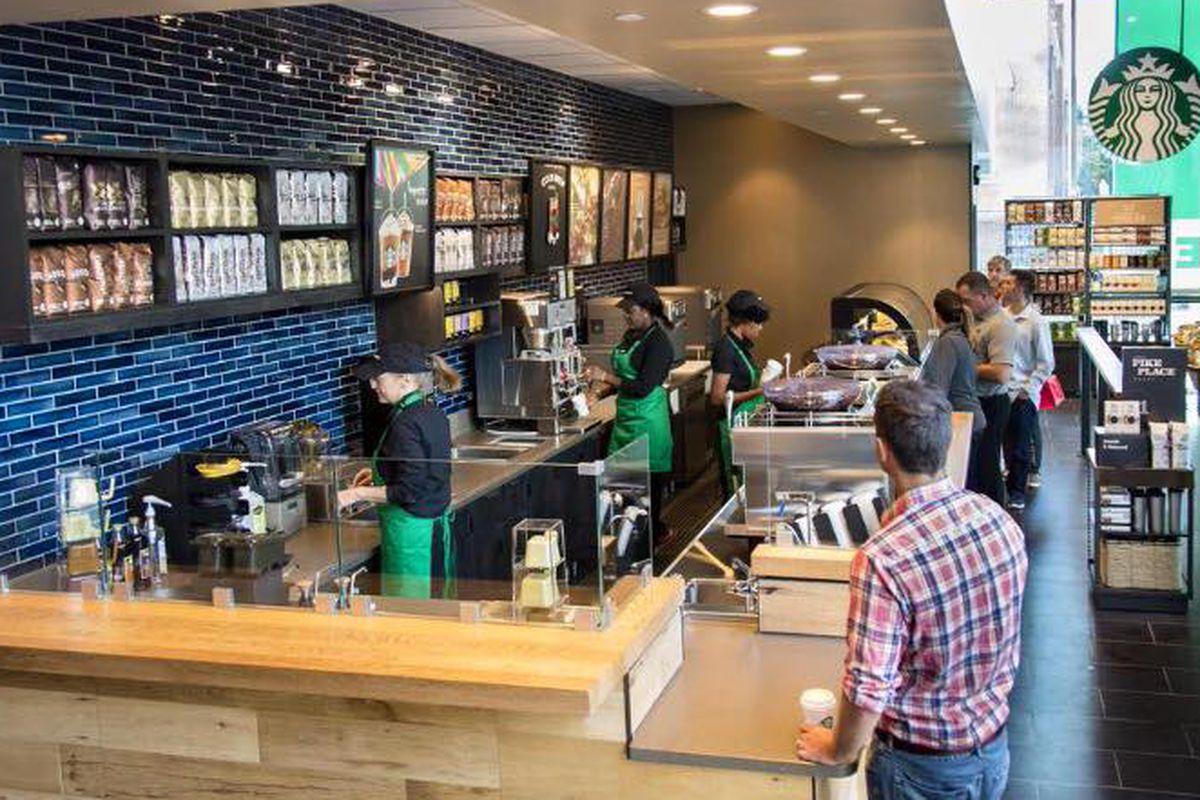Starbucks in Greektown.