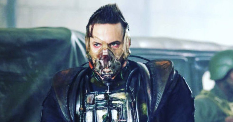 Of all the versions of Bane, Gotham went for a Dark Knight Rises look