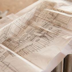 Pat Corrigan's sketch of the bar.
