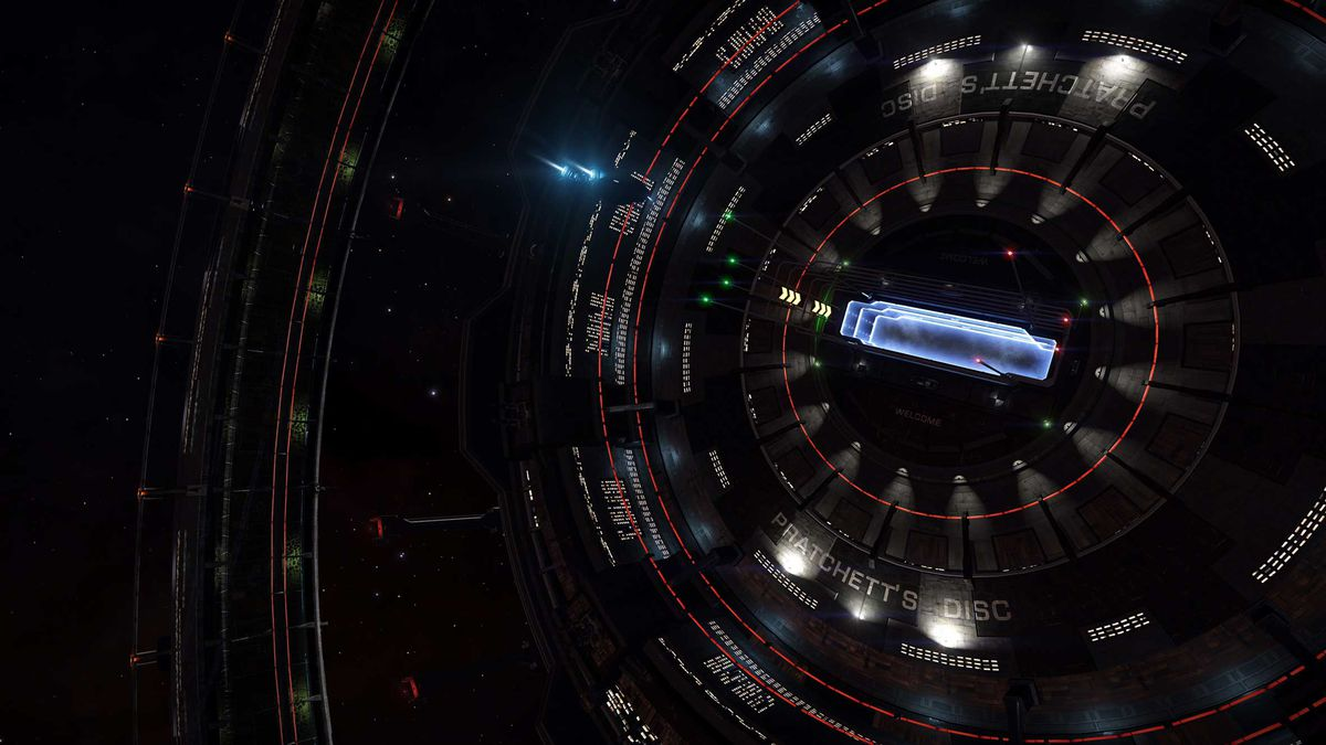 An Orbis space station in Elite Dangerous, dedicated to the author Sir Terry Pratchett.