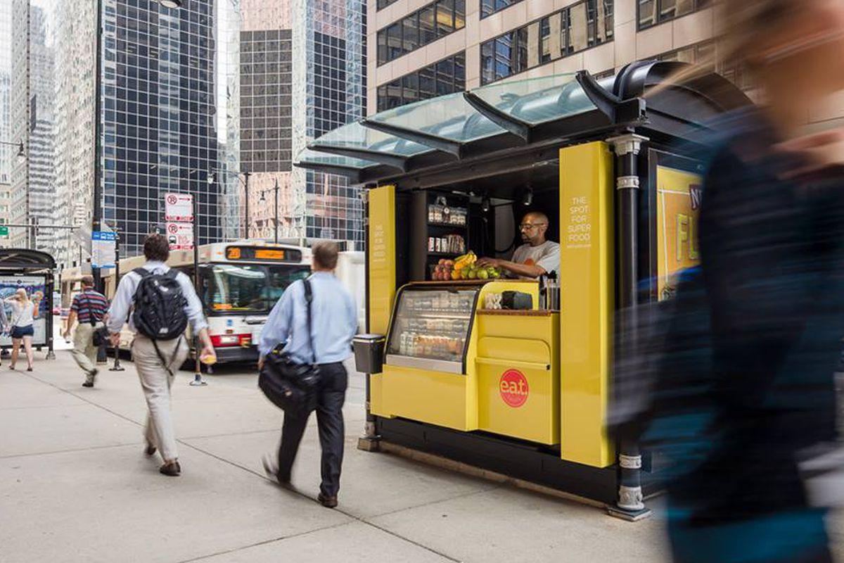 An e.a.t. spots kiosk
