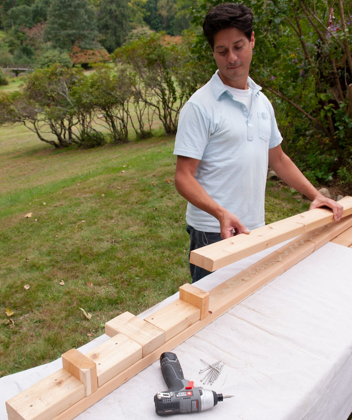 Man Dryfits Pieces For Arbor Bench