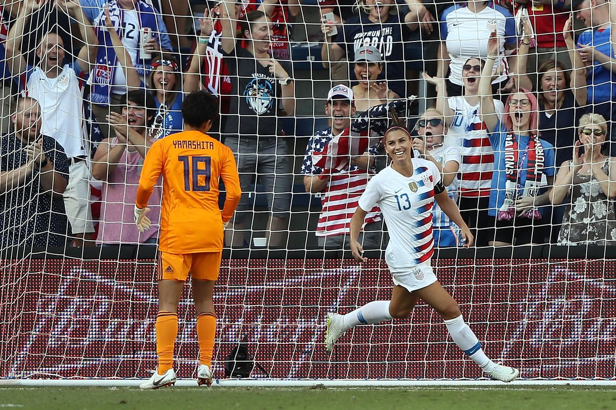 fe7ddb1e6e7 Alex Morgan hat trick highlights USWNT s 4-2 win over Japan - Once A ...