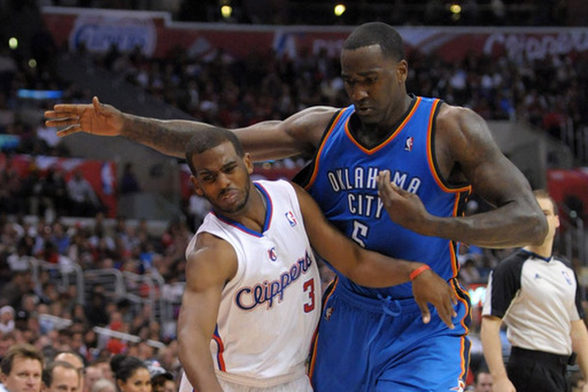 """Unfortunately, Chris Paul was never able to pass the """"You Must Be This Tall to Ride"""" test."""