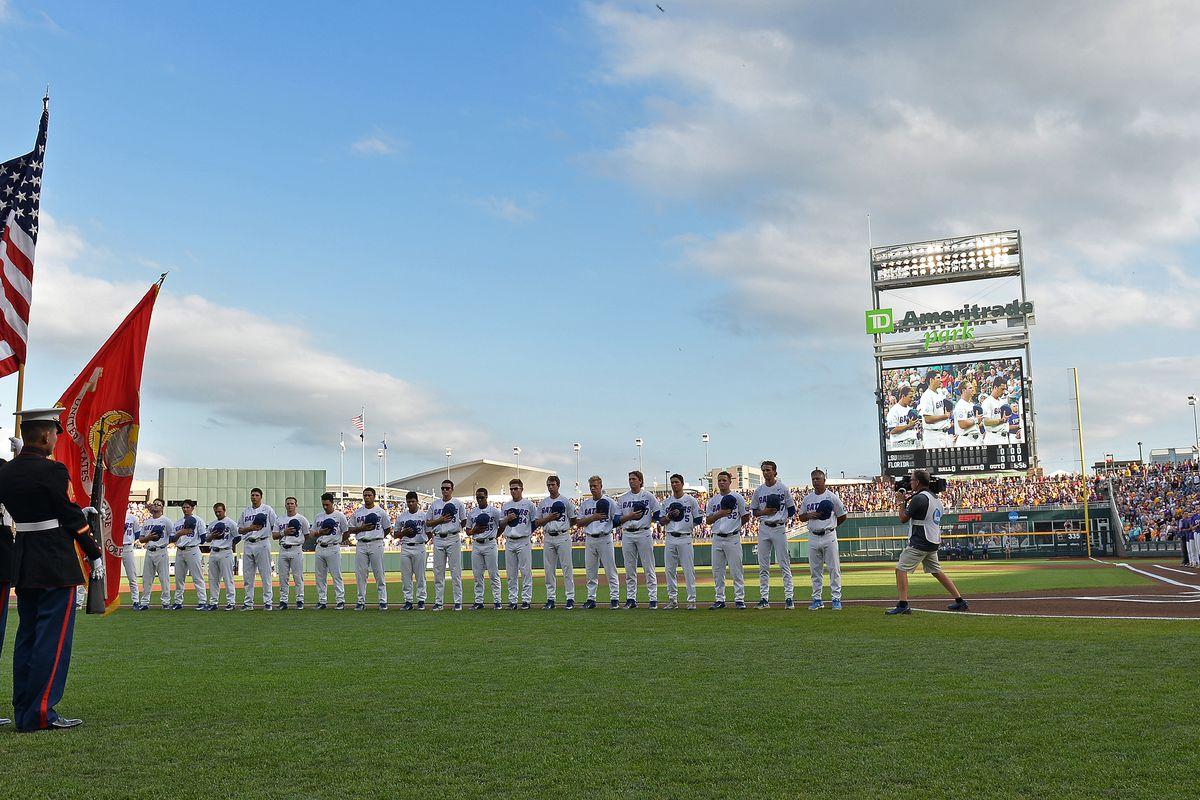 2017 Division I Men's College World Series - Florida v LSU - Game 2