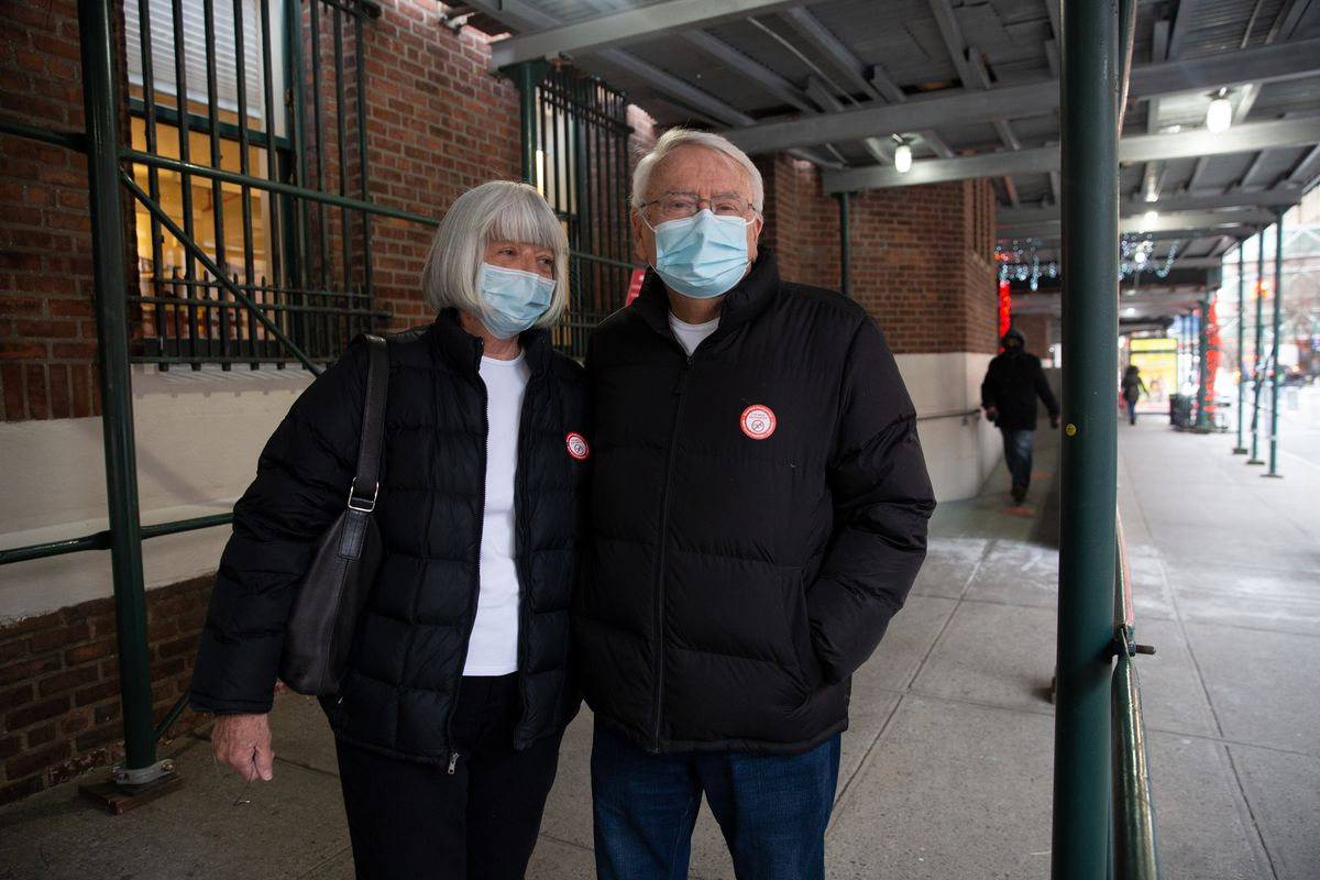 Ann and Dennis traveled from their Westchester home to the Washington Heights Armory to receive a coronavirus vaccine.