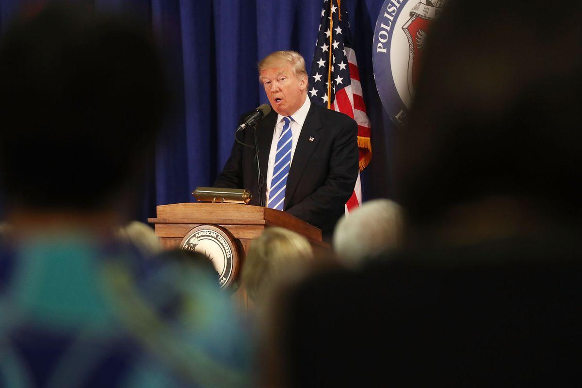 Donald Trump Campaigns In Chicago