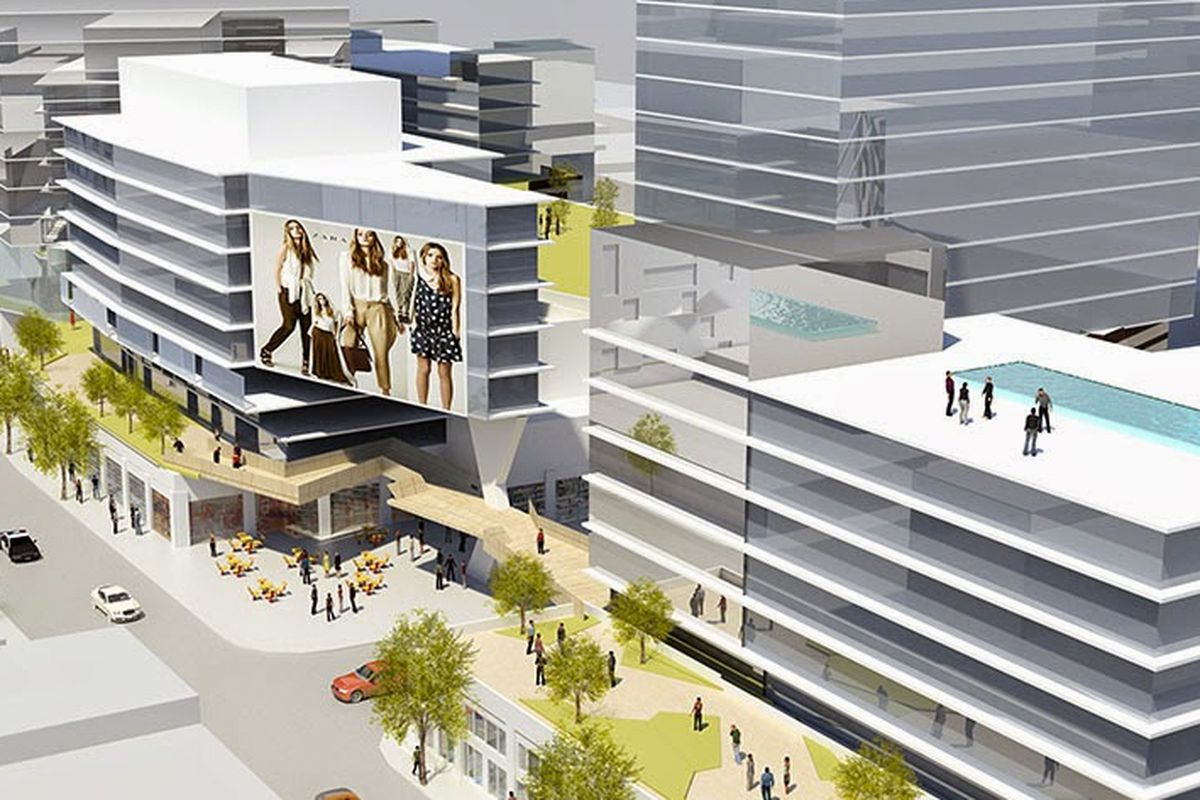 """Image via <a href=""""http://la.curbed.com/archives/2014/04/heres_the_first_look_at_fashion_district_megaproject_city_market.php"""">Curbed LA</a>"""