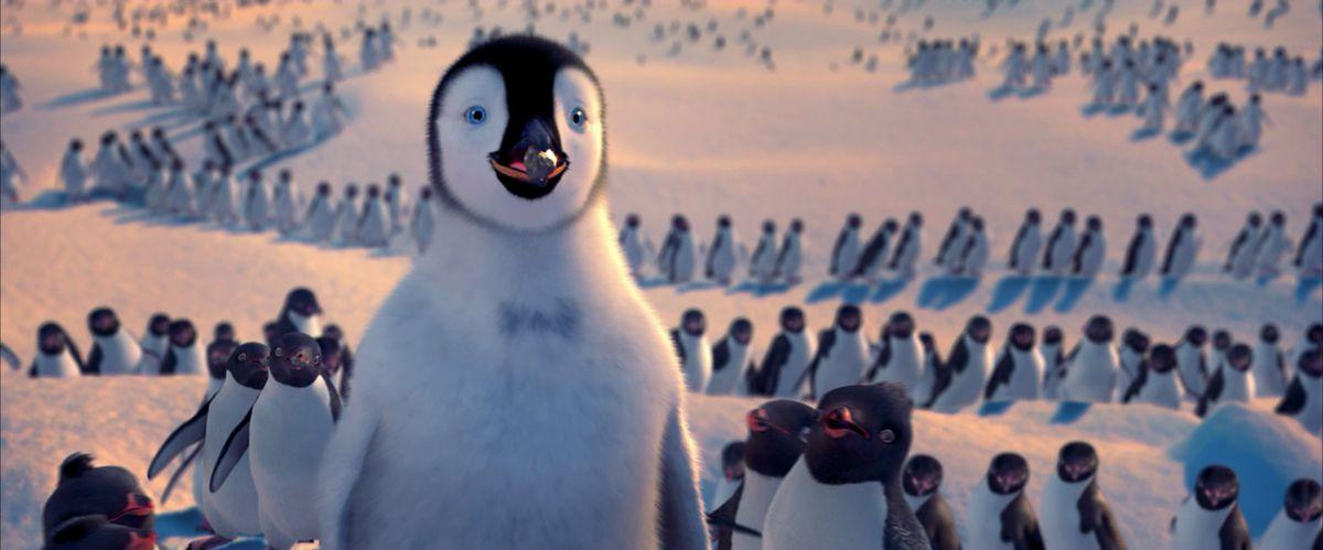 a penguin in happy feet