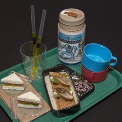 The Breakfast Club: Bento box, sandwich, soup, pixie stick