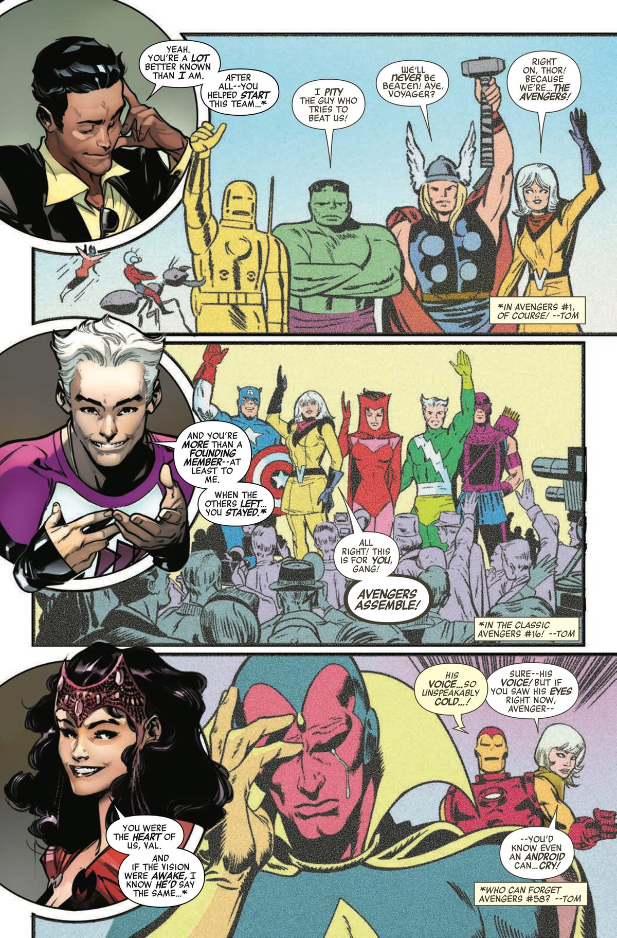 Voyager is retconned into the history of the Avengers in Avengers: No Surrender #1, Marvel Comics 2018.