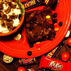 Upcycle leftover Halloween candy to make delicious desserts.