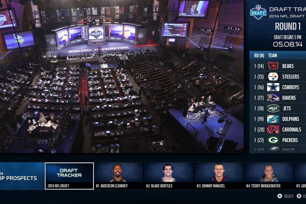 Xbox One's NFL app will livestream the 2014 NFL Draft this