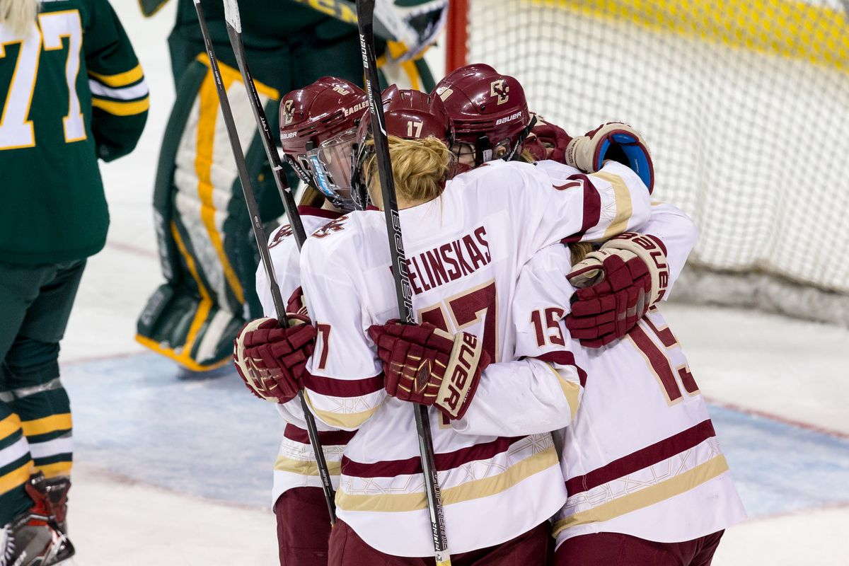 BC Women's Hockey Back In the Win Column With Wild 7-5 Comeback Over Vermont