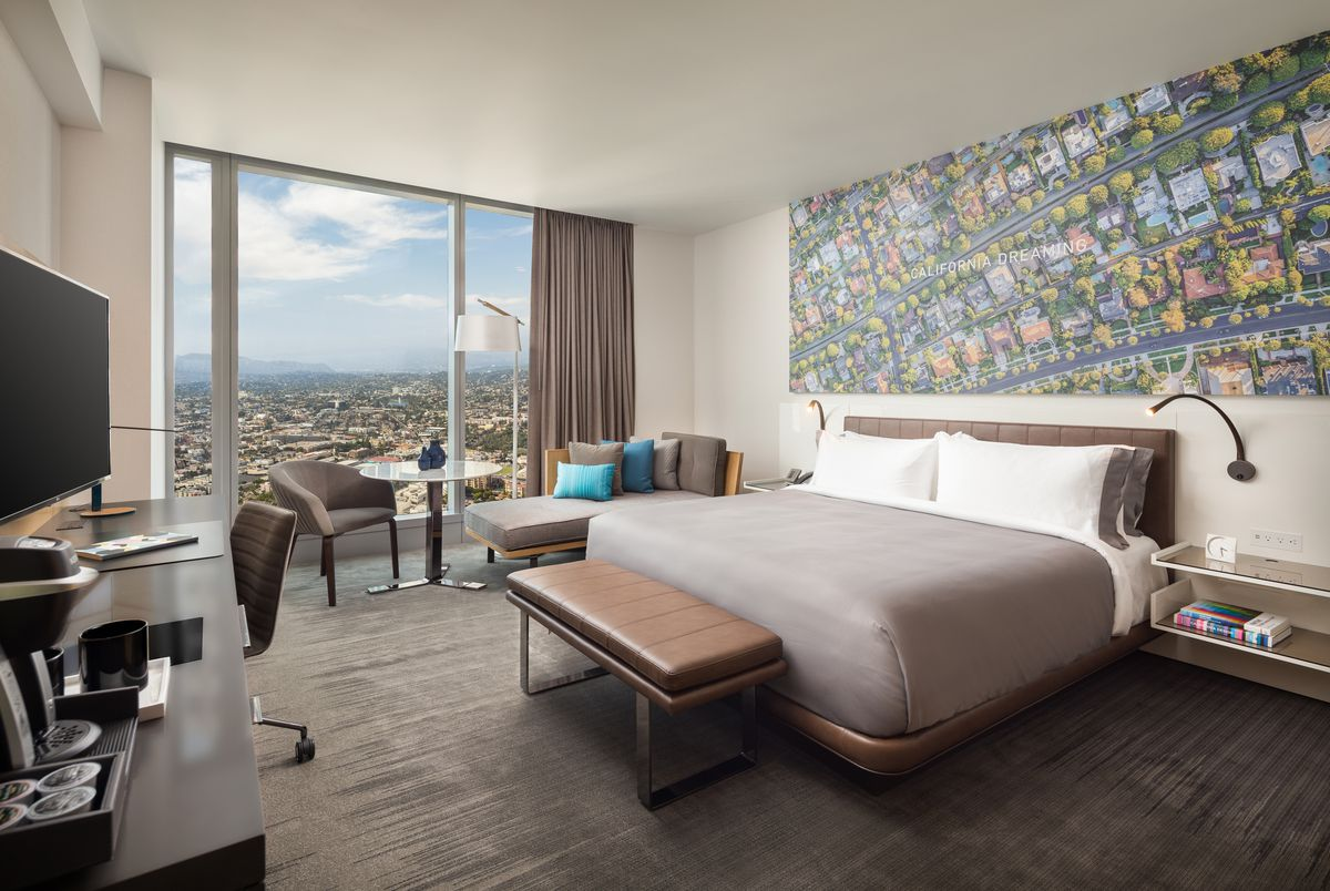 wilshire grand's intercontinental hotel opening july 2