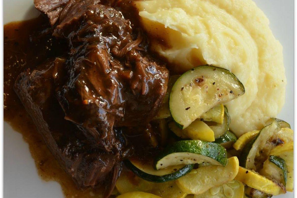 Pot roast at Triple George Grill