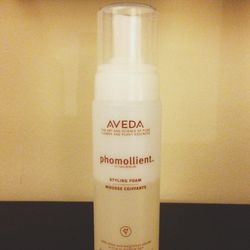 Time for some post-shower <b>Aveda</b> Phomollient to add a little volume to my hair. Not to mention it smells amazing!!