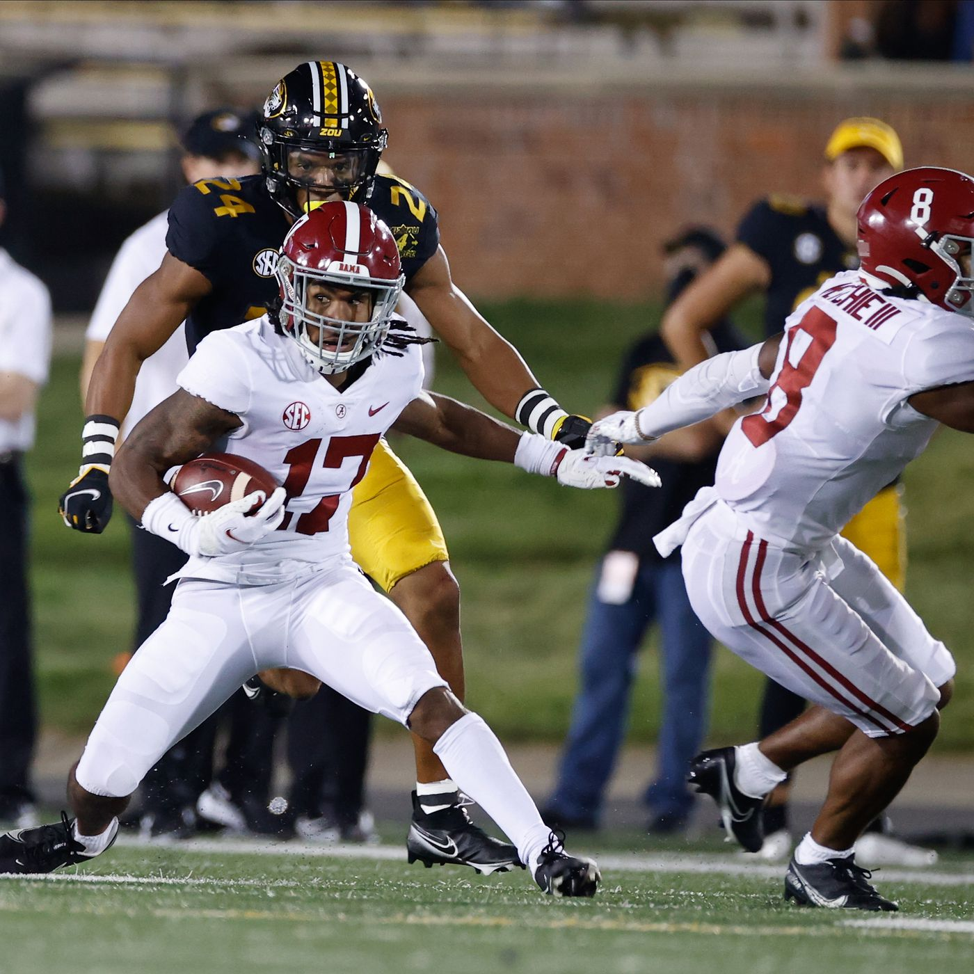 Alabama Football Film Room Jaylen Waddle Torches The Tigers Roll Bama Roll