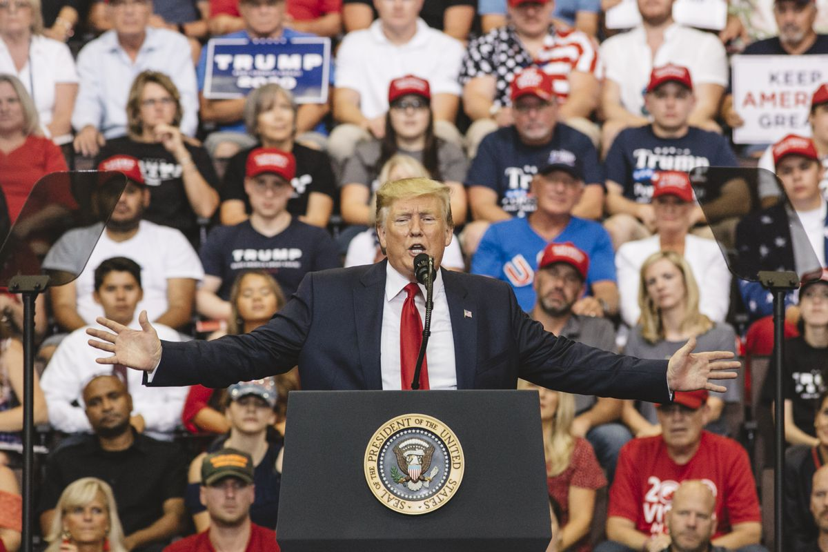 """Donald Trump And Mike Pence Hold """"Keep America Great"""" Rally In Cincinnati"""