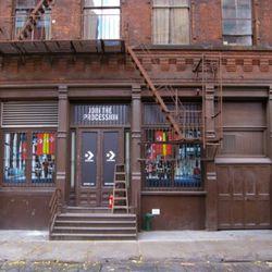The back door on Crosby Street.