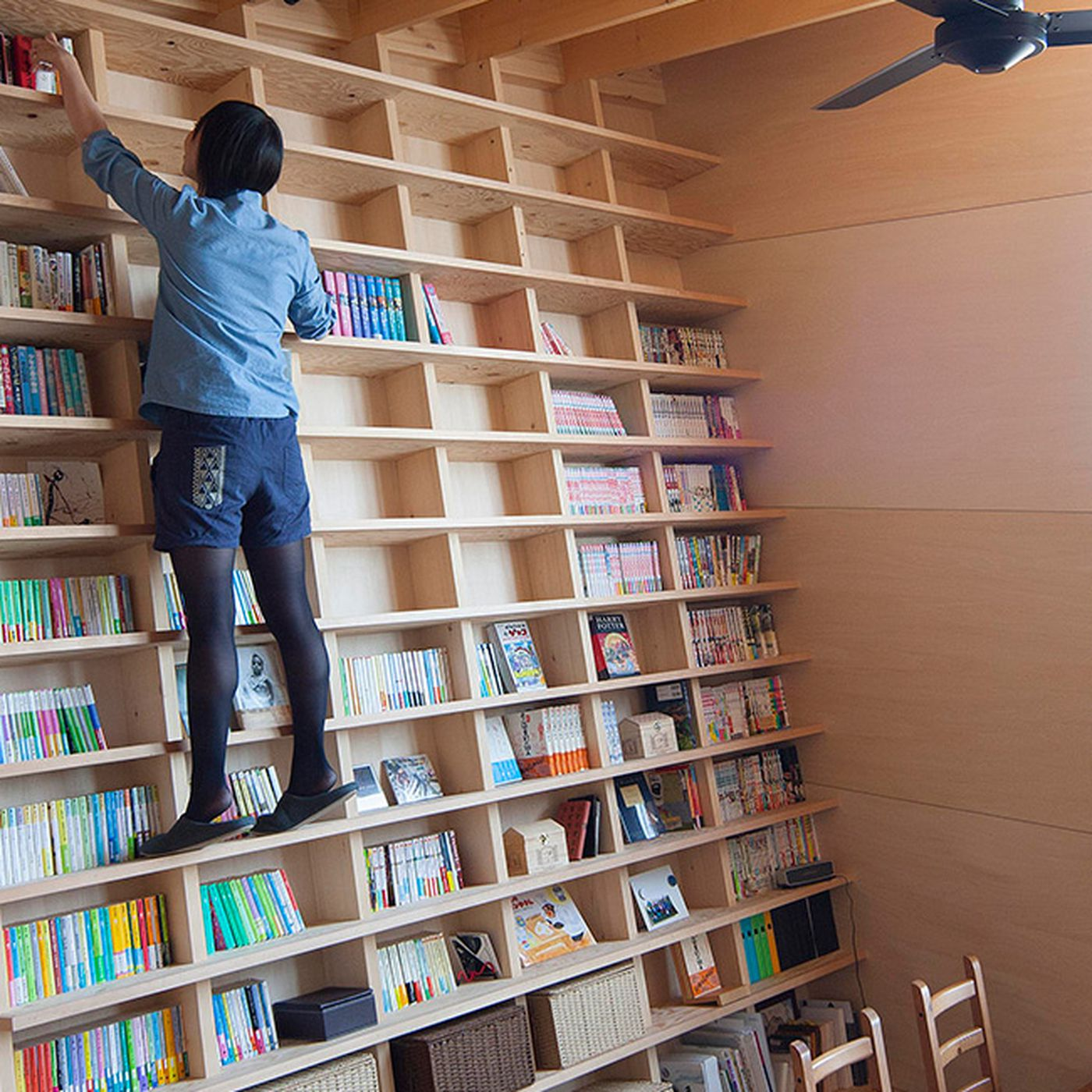 Bookshelf Doesn T Need A Library Ladder