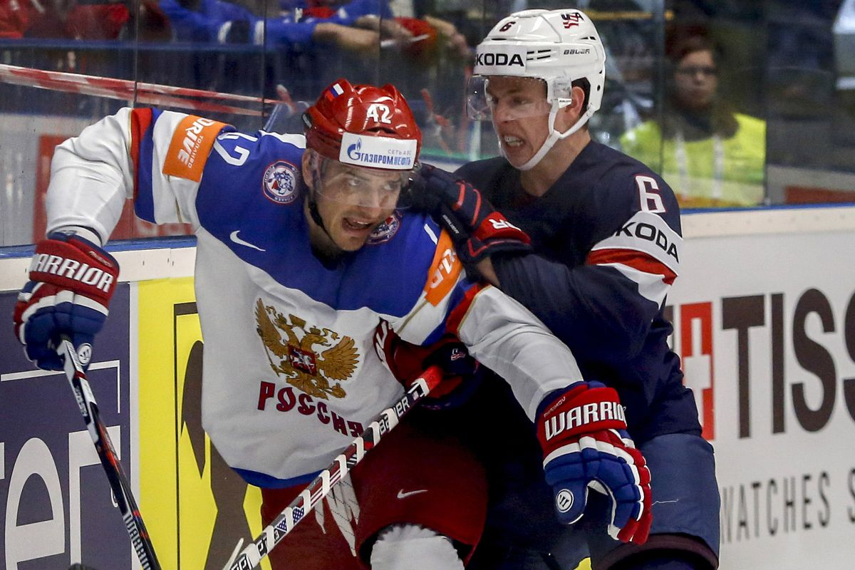 Reilly in action at the IIHF World Championships