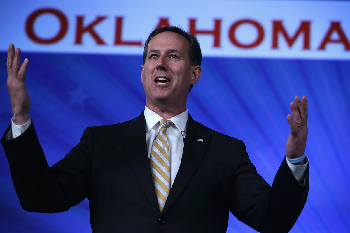 Former U.S. Sen. Rick Santorum (R-PA) speaks during the 2015 Southern Republican Leadership Conference May 21, 2015 in Oklahoma City, Oklahoma.