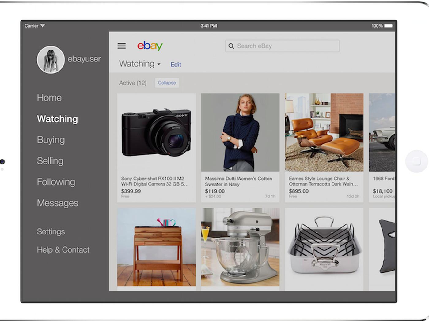 Ebay Overhauls Ipad App To Look More Like Pinterest And Less Like Amazon Vox