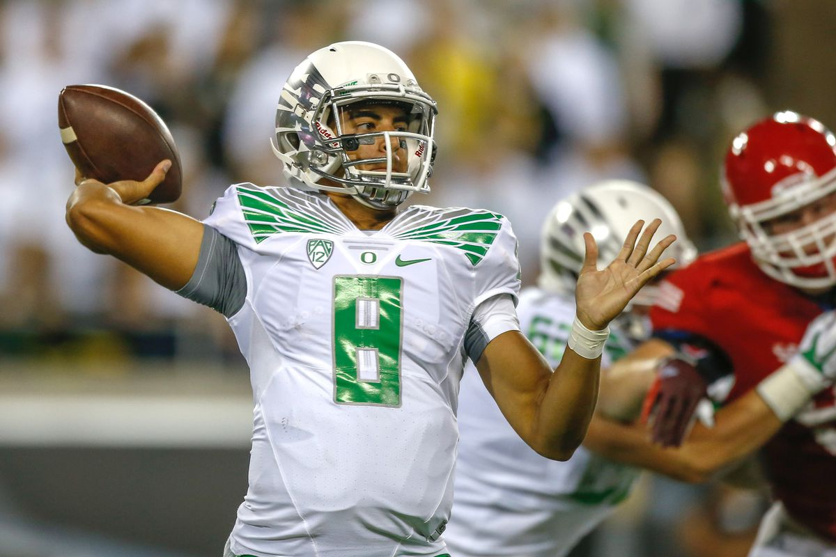 QB Marcus Mariota is going to find the going a lot tougher vs. Michigan State