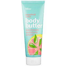 Bliss Grapefruit+Aloe Body Butter Maximum Moisture Cream, $29, Sephora. This rich and creamy body moisturizer hydrates your skin.