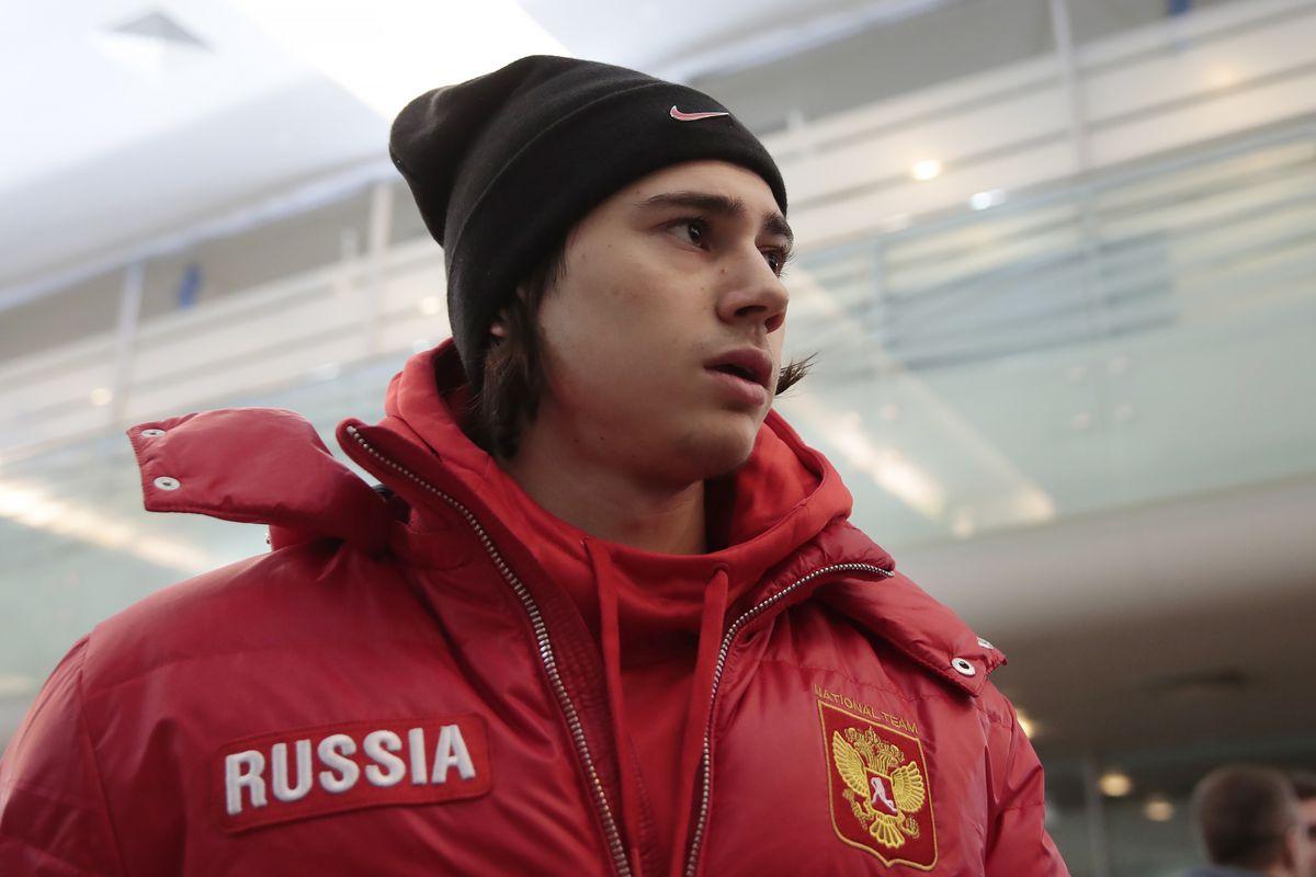 Russian junior ice hockey team welcomed at Sheremetyevo International Airport