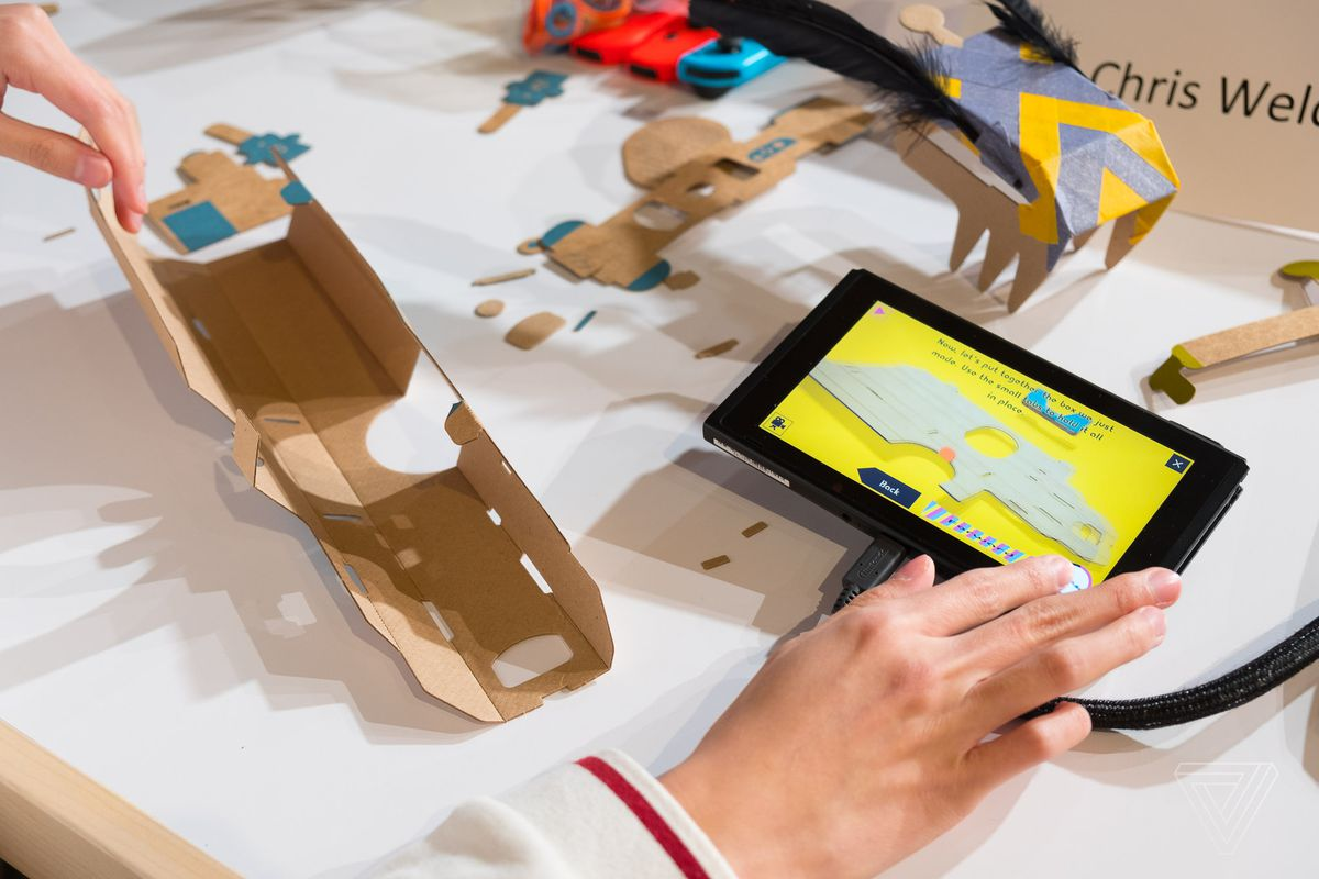 The Nintendo Switch And Labo Make Pieces Of Cardboard Feel Like After Making Controller On A Perforated Board Place Everything In Nintendos Software Shows You Helpful 3d Models Clear Step By Instructions