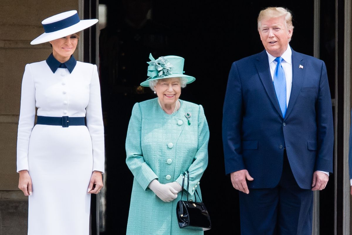 Melania Trump, Queen Elizabeth II, and Donald Trump in London on June 3.