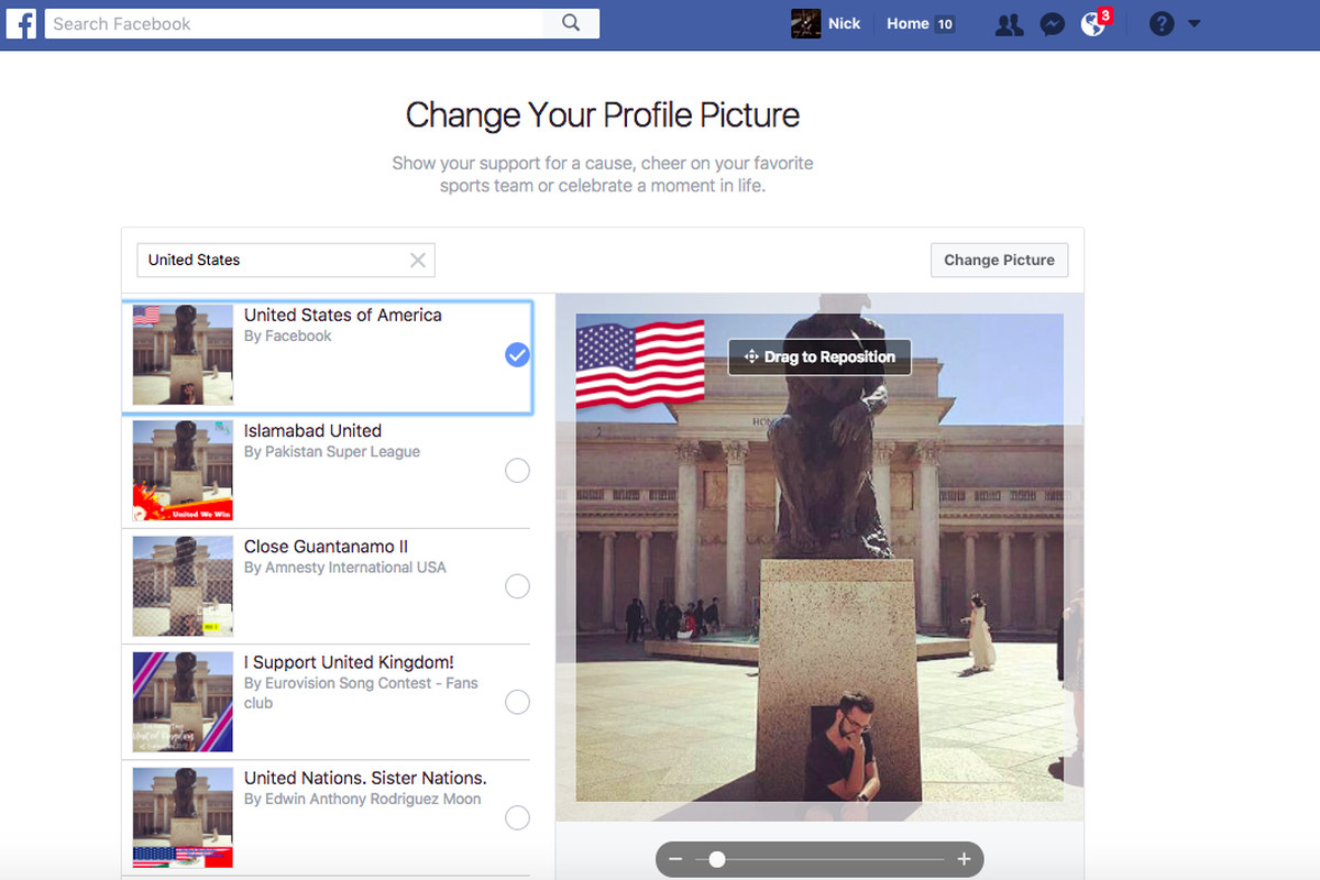 29b133dd5ee2 Facebook s new profile flags let you proudly proclaim your country of origin