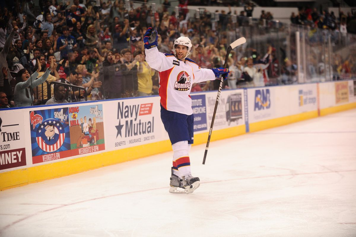 Trevor Smith and the Norfolk Admirals are going for the AHL Championship (photo by John Wright)